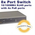 Empfehlung: Power over Ethernet (PoE) Switch