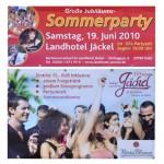 Große Jubiläums-Sommerparty