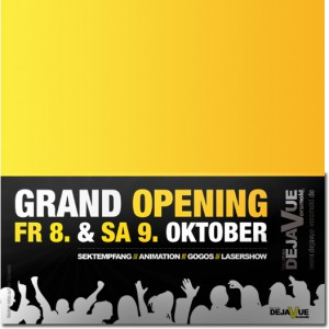 """Die Discothek """"Dejavue"""" eröffnet am 08. Oktober"""