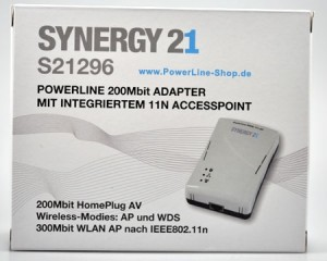 SYNERGY21 S21296 HomePlug AV 200MBit Powerline inkl. Wireless N Distribution: www.Powerline-Shop.com