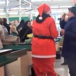 Weihnachtsmann im Marktkauf Halle