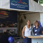 Stadt Halle mit Infostand auf den Gerry Weber Open