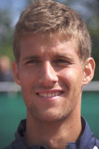 Als Junior war der heute 22-jährige Martin Klizan mit dem Gewinn der Europameisterschaften 2005 und der Platzierung als Junioren-Weltranglisten-Erster sehr erfolgreich. In dieser Saison spielt der Slowake erstmals für den Tennis-Bundesligisten Blau-Weiss Halle. © Kurt Vahlkamp (Blau-Weiss Halle)