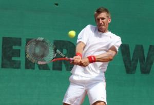 Der 29-jährige Finne Jarkko Nieminen, vor Jahren bereits als Nummer 13 der Welt notiert, führt in dieser Saison erstmals den TC  Blau-Weiss Halle als Nummer eins im Auswärtsspielen beim Erfurter TC Rot-Weiss an. © Blau-Weiss Halle