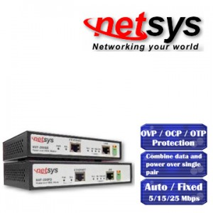 Netsys NVF-200SE / NVF-200PD VDSL incl. PoE 802.3af 