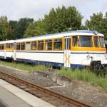 Sonderfahrt mit historischen Schienenbus