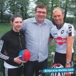 Hendrik Schaefer sportlich im Wahlkampf