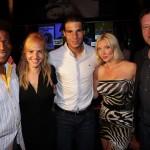 Tennis-Weltstar Rafael Nadal mit kompletter Crew beim gesellschaftlichen Highlight