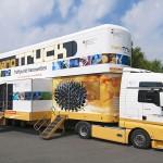 Der nanoTruck des Bundesforschungsministeriums lädt am Kreisgymnasium zur Erkundung der Nanowelten ein