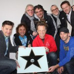 Walk of Fame-Stern gestern verliehen an Band PUR und Hartmut Engler
