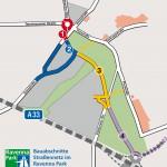 Verkehrsanschluss für den Ravenna Park: Bau der Entlastungsstraße beginnt am Montagmorgen