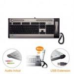 USB Tastatur mit eingebautem Telefon