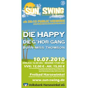 Sun Swing Poolparty im Freibad Harsewinkel, Samstag den 10. Juli 2010