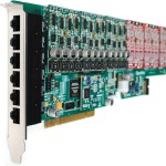 24 port analog card with Octasic DSP hardware echo cancellation