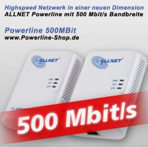 ALLNET liefert Adapter der neuen High Performance 500Mbit Powerline Generation
