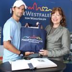 Gerry Weber Open 2011: Bürgermeisterin begrüßt Wimbledonsieger