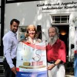 Kiwi wirbt für die Stadt Halle Westfalen