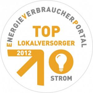 """Ein Gütezeichen für Deutschlands Stadtwerke: Das Siegel """"Top-Lokalversorger 2012"""" erhielt jetzt die Haller TWO."""