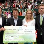 ATP-Chef Brad Drewett und Laurent Delanney (CEO ATP Europa) zu Gast bei den GERRY WEBER OPEN