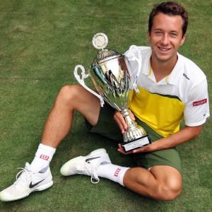 Titelverteidiger Philipp Kohlschreiber: Der 28-jährige Augsburger ist Deutschlands derzeit bestplatzierter Tennisprofi und freut sich bereits jetzt auf die Jubiläumsauflage der 20. GERRY WEBER OPEN 2012 in HalleWestfalen. © GERRY WEBER OPEN (HalleWestfalen)