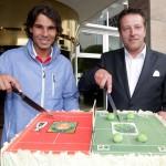 Eine Torte für den frischgebackenen French Open-Champion