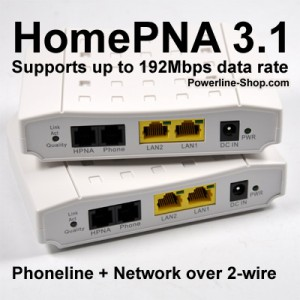 HomePNA das Heimnetzwerk über die Hausverkabelung (2 Drahtleitung)