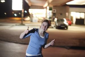 """Christina Schneider geht mit vollem Einsatz in die entscheidende Phase des Jugendförderwettbewerbs """"Die junge Kraft der Haller."""
