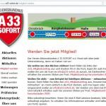 Aktionsbündnis A 33 sofort will weitere Mitglieder gewinnen