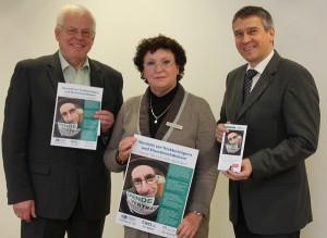 Gemeinsam gegen Trickbetrug und Abzocke: Karl-Heinz Wöstmann (TWO), Veronika Wörmann (Polizei) und Sven Eisele (KWG) stellten gestern die neue Informationskampagne vor.