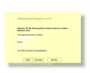 TWO Zählerstände online melden