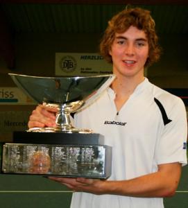 Der für Blau-Weiss Halle spielende Jan-Lennard Struff wiederholte seinen Vorjahrestriumph und wurde erneut Deutscher Meister.