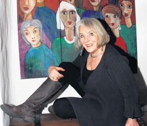 Triptychon 2008: Die Piumer Künstlerin Veronica Petersdorf stellt immer wieder Menschen dar, die sie in der Verbindung zu ihrer Umwelt oder zu anderen Menschen setzt. Fotos: e. rekate