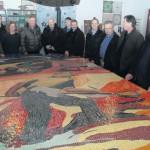 Das Böckstiegel-Mosaik von Irmgard Wiesbrock blickt seiner Vollendung entgegen