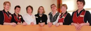 Freuen sich auf den Tag der offenen Tür am 6. April: Das Team vom Hotel Hollmann in Halle mit (von links) Olga Fast, Kornelia Frentrup, Nana Patzer, Ulrike Kaiser-Niederastroth, Inhaberin Antje Siekendiek, Maria Wiens und Doris Ortmeyer.