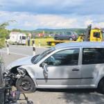 Fünf Autos, fünf Leichtverletzte durch eine Art doppelten Auffahrunfall