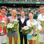 """Angelique Kerber und Richard Krajicek gewinnen """"Champions Trophy"""" gegen Antonia Lottner und Michael Stich vor rund 10.000 Zuschauern"""