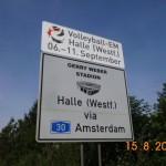 EM-Schilder auf den Autobahnen - An HalleWestfalen führt kein Weg mehr vorbei