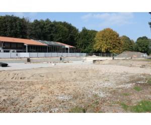 Baustelle vom neuen Naturerlebnisbad Versmold