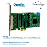 VoIPDistri.com liefert hochperformante 8 Port PRI PMX-Karte mit programmierbaren Interrupt und Octasic Echo Cancellation Chipsatzt