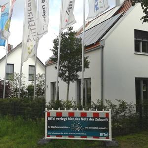 Freitag den 31.07.2015 ist der offizielle Spartenstich mit Herrn Kerscher und den an dem BiTEL Glasfaster Projekt beteiligten Personen in der Fritz-Blank-Straße